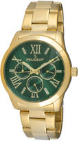 Peugeot Womens Green Dial Gold-Tone Stainless Steel Bracelet Watch 7095GR