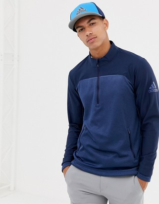 adidas Go-To Half Zip Sweat In Navy