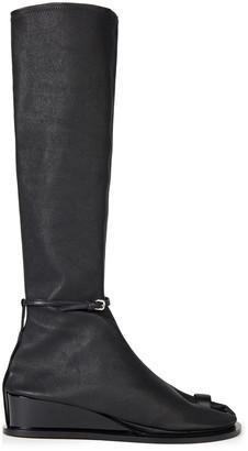 Jil Sander Split-toe Stretch-leather Knee Boots