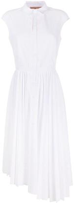 Ermanno Scervino Pleat-Detailing Asymmetric Shirt Dress