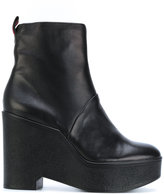 Robert Clergerie classic platform boots - women - Leather/rubber - 36
