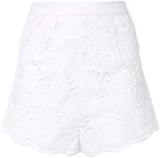 Alexis Bowes embroidered shorts