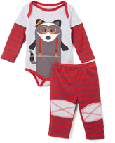 Buster Brown Chili Pepper & Heather Gray 'Genius' Bodysuit & Pants - Infant
