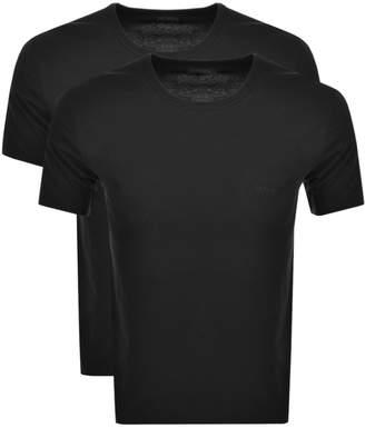 HUGO BOSS Boss Business 2 Pack Crew Neck T Shirts Black