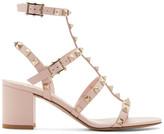 Valentino Pink Garavani Rockstud City Cage Sandals