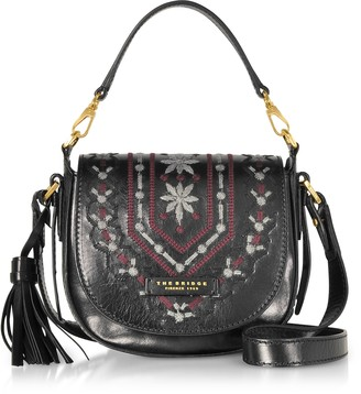 The Bridge Fiesole Embroidered Leather Shoulder Bag
