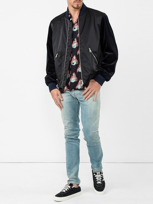 Valentino Tiger Embroidered Bomber Jacket