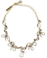 Oscar de la Renta Crystal & Faux Pearl Collar Necklace