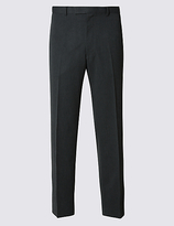 M&S Collection Big & Tall Grey Regular Fit Trousers