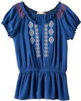 Speechless Girls 7-16 Embroidered Peplum Tunic