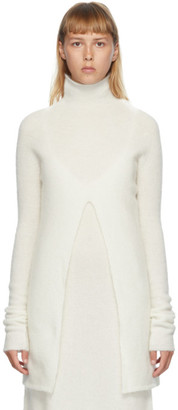 Jil Sander Off-White Mohair Long Turtleneck