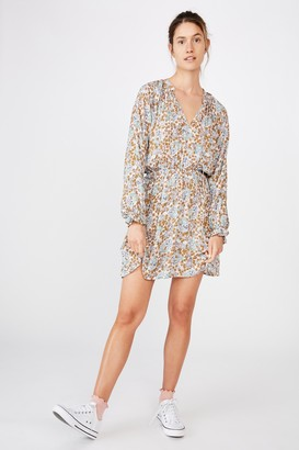 Cotton On Woven Kasey Long Sleeve Smock Dress