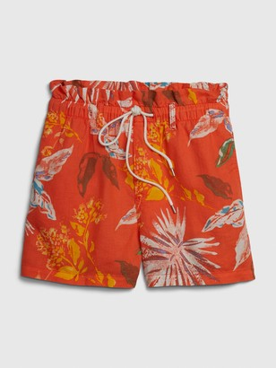Gap Paperbag Pull-On Print Shorts in Linen-Cotton
