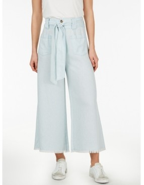 Adyson Parker Plus Size Self Belt Flare Chambray Pant