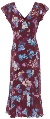 Altuzarra Floral silk-crepe midi dress