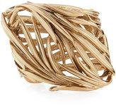 Oscar de la Renta Palm Leaf Cuff Bracelet