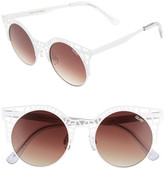 Quay Fleur 49mm Round Sunglasses