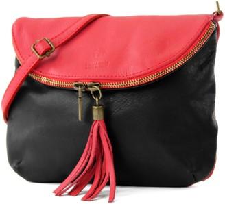 Modamoda De Ital. Leather Bag Clutch Shoulder Bag Underarm Bag Shoulder Bag Girl Small nappa leather T07