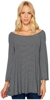 Three Dots 3/4 Sleeve Top Women's Clothing