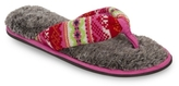 Dearfoams Fairisle Thong Slipper