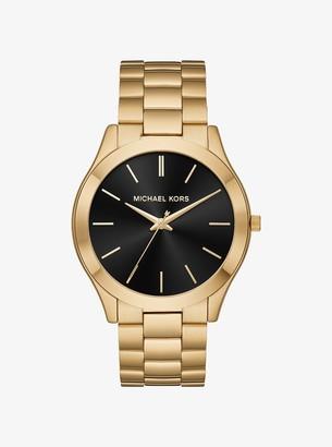 Michael Kors Oversized Slim Runway Gold-Tone Watch