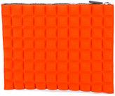 NO KA 'OI No Ka' Oi - textured zipped clutch - women - Polyamide/Polyurethane/Spandex/Elastane - One Size
