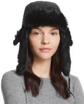 Surell Quilted Aviator Hat with Rabbit Fur Trim