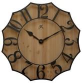 Infinity Instruments Black Metal On Wood Wall Clock - Brown