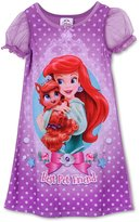 Disney Princess Ariel Little Mermaid Palace Pets Toddler Nightgown for girls