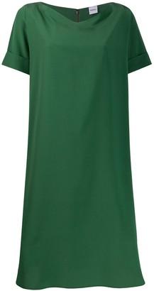 Aspesi draped-neck silk dress