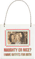 Primitives by Kathy Naughty Or Nice Mini Hanging Frame Ornament