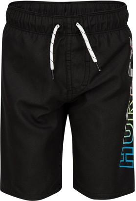 Hurley Boys 4-7 Ombre Logo Pull On Swim Trunks