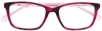 Love Moschino Rectangular Framed Glasses