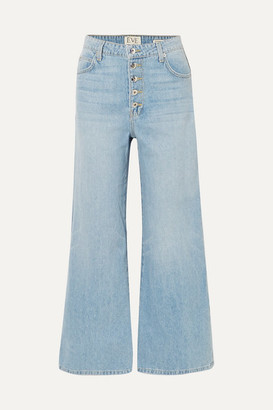 Eve Denim Charlotte Cropped High-rise Wide-leg Jeans - Light denim