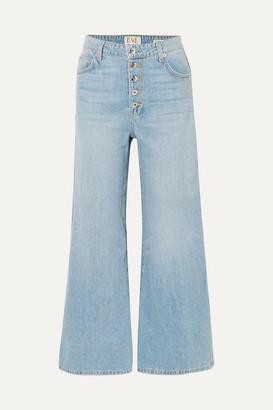 Eve Denim Charlotte Cropped High-rise Wide-leg Jeans - Light denim