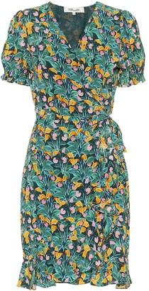 Diane von Furstenberg Emilia floral crApe minidress