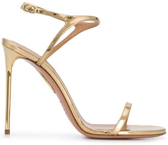 Aquazzura Metallic 115mm Stiletto Sandals