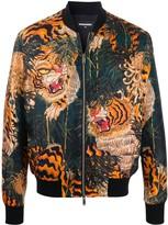 DSQUARED2 tiger-print bomber jacket