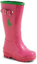 Ralph Lauren Girls' Ralph Rainboot - Walker, Toddler