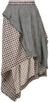 Hache asymmetric plaid skirt - women - Silk/Cotton - 40
