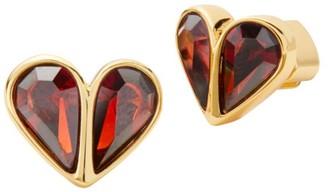 Kate Spade Small Stone Heart Stud Earrings