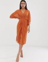 Asos Design DESIGN midi kimono dress with starburst beading