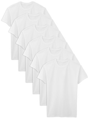 Fruit of the Loom Tall Men's Classic White Crew T-Shirts, 6 Pack