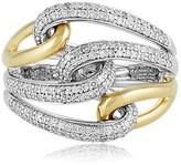 Effy Jewelry Effy Duo 14K Yellow and White Gold Diamond Ring, 0.55 TCW