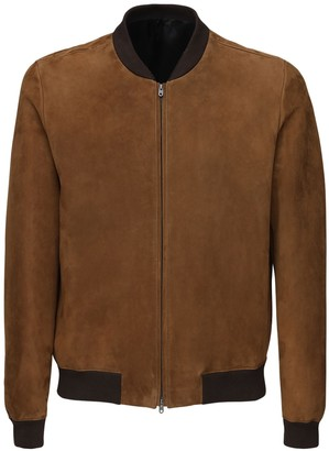 The Row Curt Suede Bomber Jacket