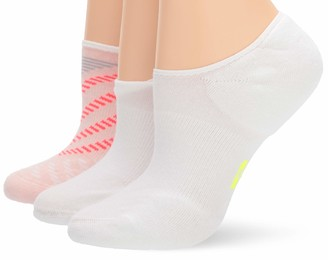 Hue Women's Low Cut No Show Liner Sport Socks with Cushion 3 Pair Pack