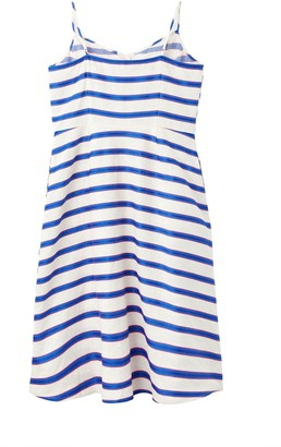 Joules Abby Button Through Strappy Dress - White