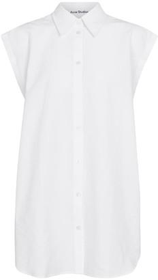 Acne Studios Sleeveless cotton-blend shirt
