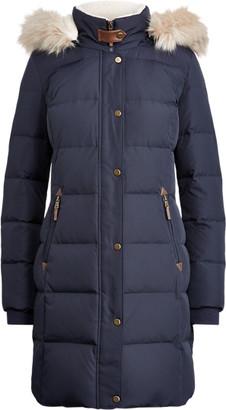 Ralph Lauren Faux-Fur-Trim Down Coat