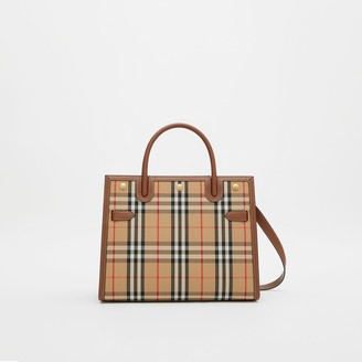 Burberry Mini Vintage Check Two-handle Title Bag